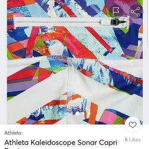 Athleta Pants - Athleta Kaleidescope Sonar Kapri